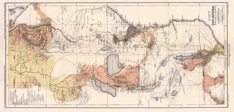Reisen in Ost-Afrika - 3.3 - Übersichtskarte: Decken, Carl Claus