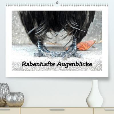 Rabenhafte Augenblicke (Premium, hochwertiger DIN A2 Wandkalender 2021, Kunstdruck in Hochglanz) : Rabenvögel auf Tuchfühlung, dem Glücksraben auf die Krallen geschaut (Monatskalender, 14 Seiten ) - Meike Ajo. Dettlaff