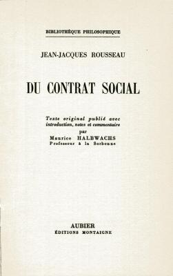 2 Bände: Du contrat social: Rousseau, Jean-Jacques