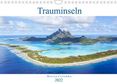 Trauminseln - Matteo Colombo (Wandkalender 2022 DIN A4 quer) : Wunderbare Inseln aus aller Welt (Monatskalender, 14 Seiten ) - Matteo Colombo