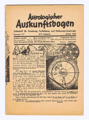 Astrologischer Auskunftsbogen. 17. Jhg. 1967, Nr. 187: Baumgartner, Hermi (Hrsg.):