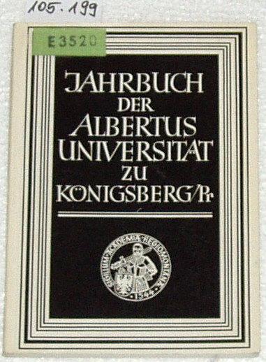 Jahrbuch der Albertus-Universität zu Königsberg / Pr. - Band XXV / 1975.