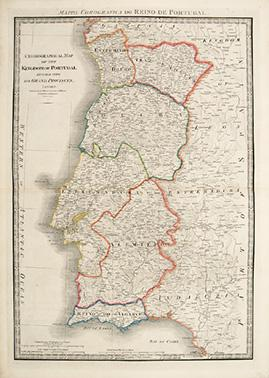 Chronographical Map of the Kingdom of Portugal: Wyld, James, 1812-1887