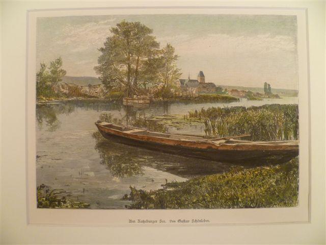 Am Ratzeburger See. Kolor. Holzstich von 1881.: Ratzeburg.-