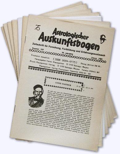 Astrologischer Auskunftsbogen. 30. Jhg. 1980, Nr. 343: Baumgartner, Hermi (Hrsg.):