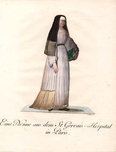 Eine Nonne aus dem St. Gervais-Hospital in: Schwan, Christian Friedrich: