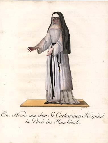 Eine Nonne aus dem St. Catharinen Hospital: Schwan, Christian Friedrich: