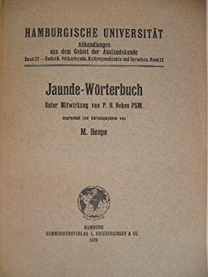 Jaunde-Wörterbuch. (Südkamerun). Unter Mitwirkung von P.H. Nekes.: HEEPE, M.