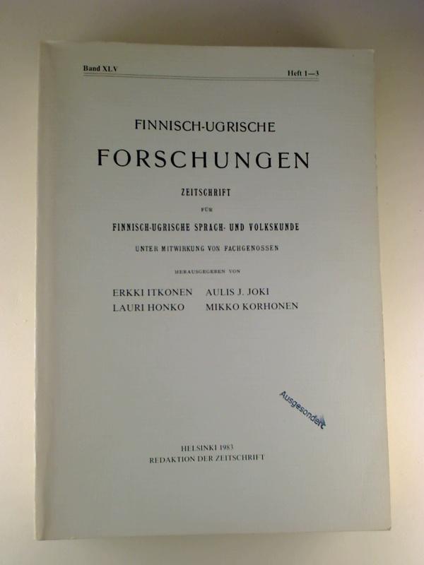 Finnisch-Ugrische Forschungen. - 45. Band / 1983,: Erikki Itkonen /