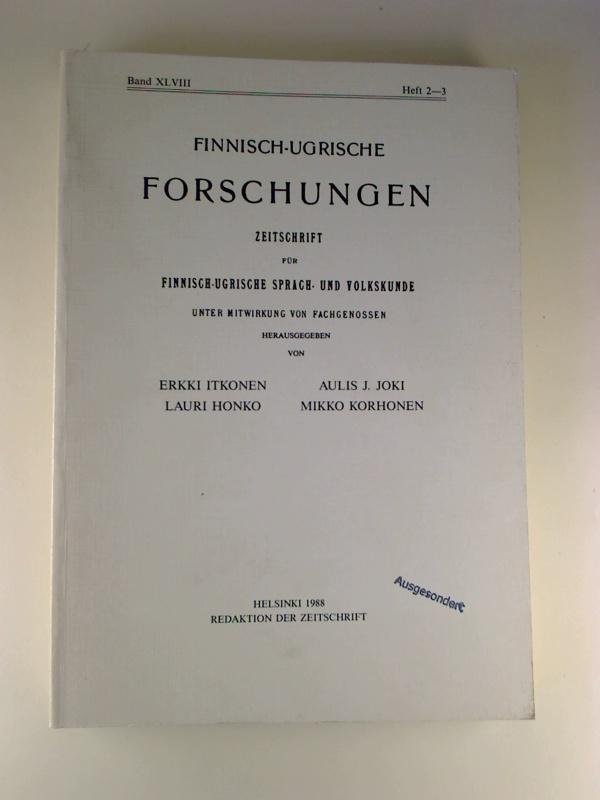Finnisch-Ugrische Forschungen. - 48. Band / 1988,: Erikki Itkonen /