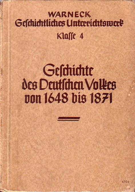 Geschichte des Deutschen Volkes von 1648 bis: Fechner, Helmuth