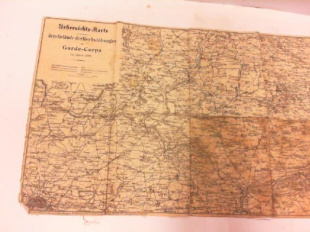 Übersichtskarte von dem Gelände der Herbstübungen des: Garde-Corps: