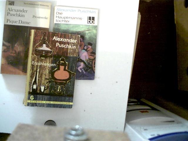 3 Bücher vom russischen Autor Alexander Puschkin: Puschkin, Alexander: