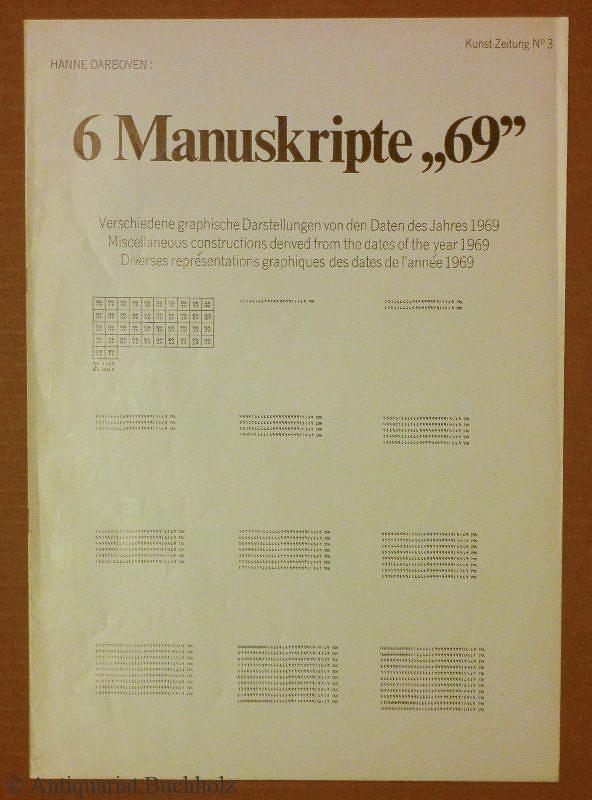 6 Manuskripte ''69''. Verschiedene graphische Darstellungen von: Darboven, Hanne