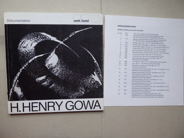 Dokumentation H. Henry Gowa.: GOWA H. Henry