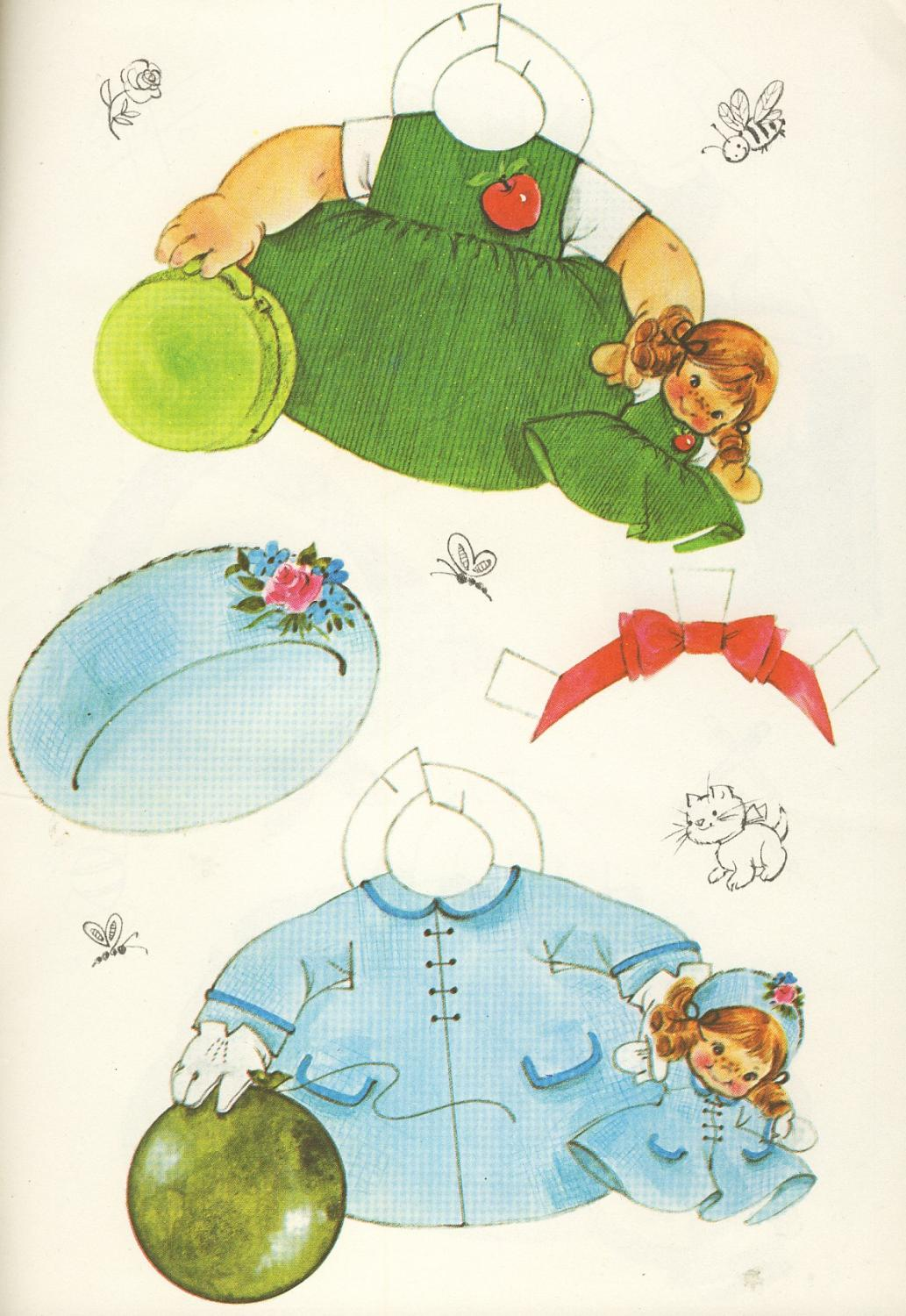 The Doll That Walks Rand McNally 1977 Uncut Toodles Paper Doll