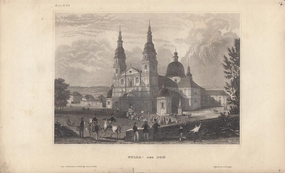 Fulda: Der Dom Stahlstich , beim Bibliographischen: FULDA: