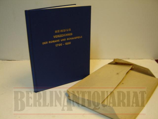 Alphabetisches Verzeichnis der von 1700 bis Ende: Heinsius, Wilhelm: