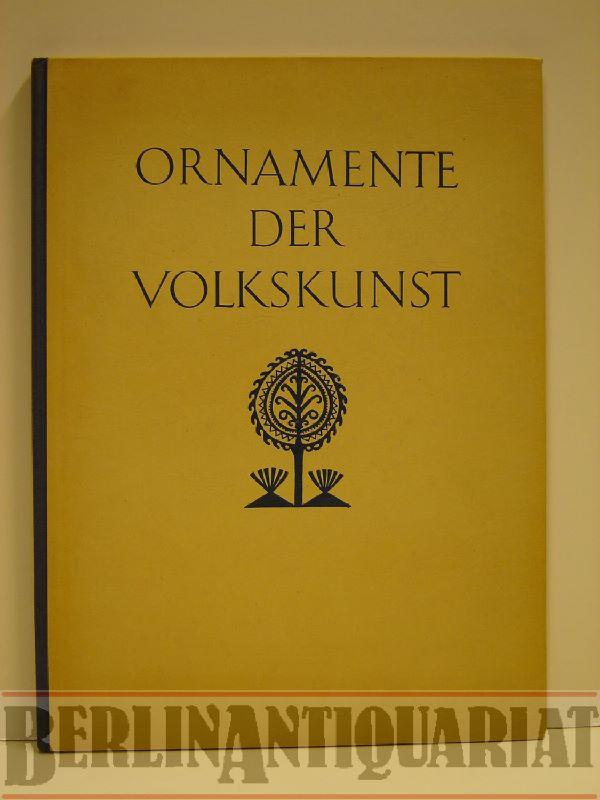Ornamente der Volkskunst. Gewebe, Teppiche, Stickereien.: Bossert, H. Th.: