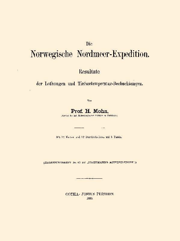 Die norwegische Nordmeer-Expedition: Mohn, Henrik