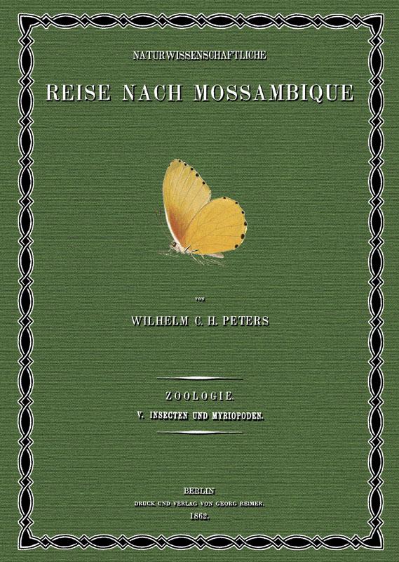 Naturwissenschaftliche Reise nach Mossambique; Band 5: Peters, Wilhelm Carl