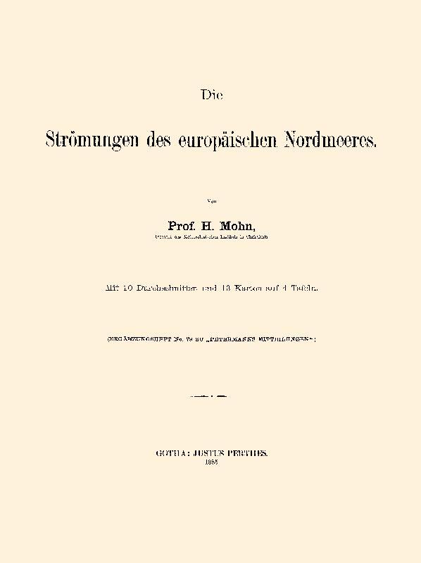 Die Strömungen des europäischen Nordmeeres: Mohn, Henrik