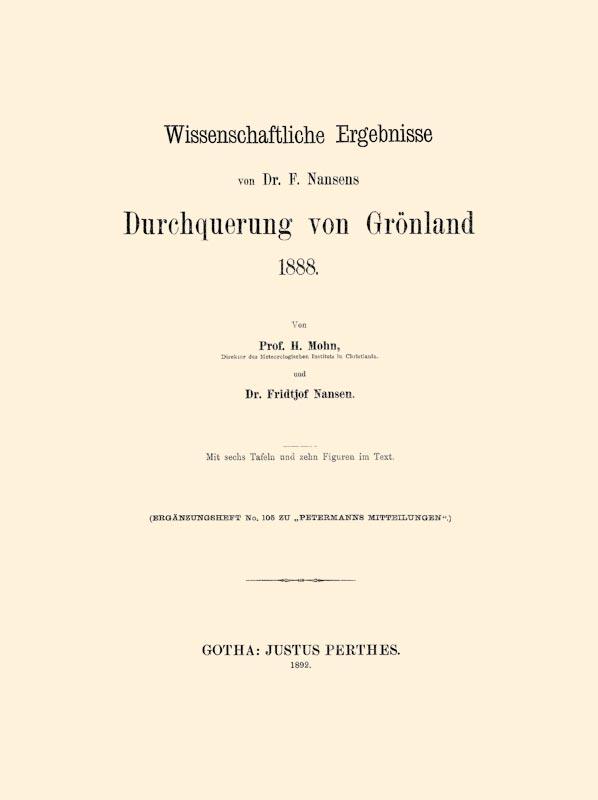 Durchquerung von Grönland 1888: Mohn, Henrik