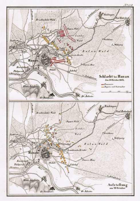 Schlacht bei Hanau den 30. October 1813.: Hanau