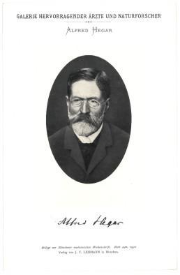 Portrait, Brustbild, Photographie, Lichtdruck 8,5 x 12: Hegar, Alfred =