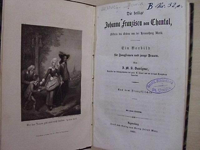 Die heilige Johanna Franzisca von Chantal, Stifterin: Frémiot de Chantal,