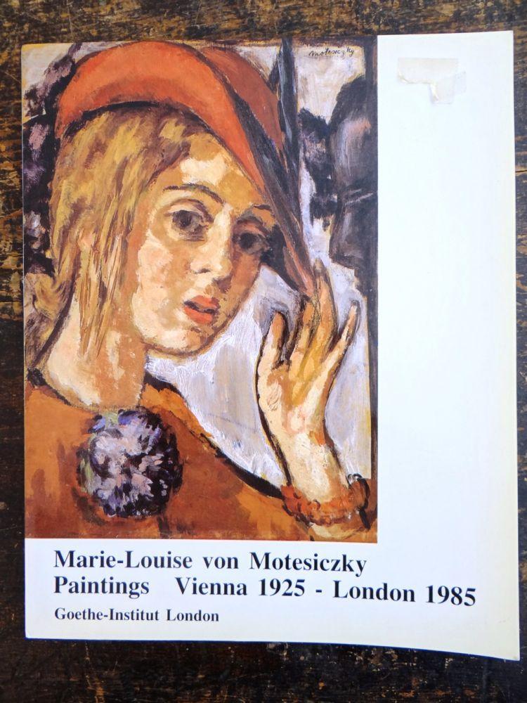 Marie-Louise von Motesiczky: Paintings, Vienna 1925 - London, 1985 - Gombich, E.H. et al.
