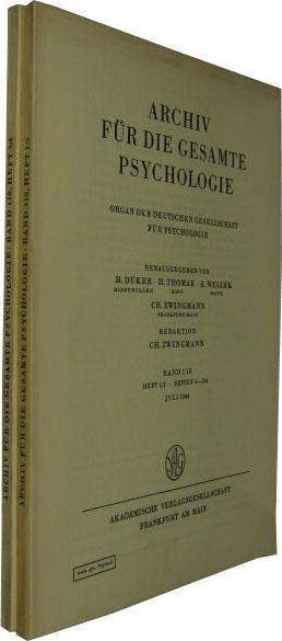 Band 118. 4 Hefte in 2 Bde.: Archiv für die