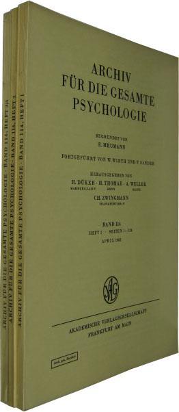 Band 114. 4 Hefte in 3 Bde.: Archiv für die