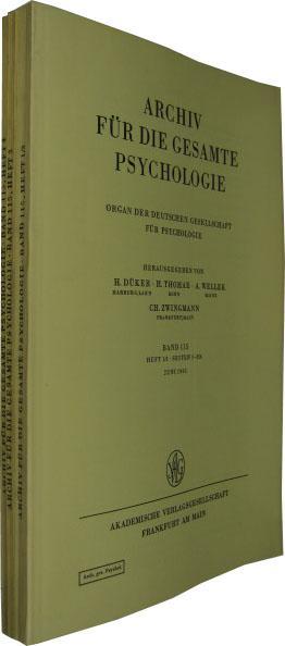 Band 115. 4 Hefte in 3 Bde.: Archiv für die