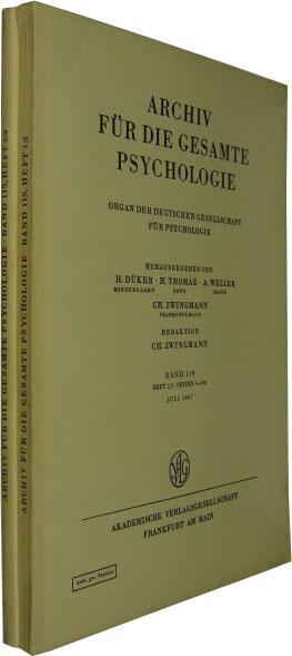 Band 119. 4 Hefte in 2 Bde.: Archiv für die