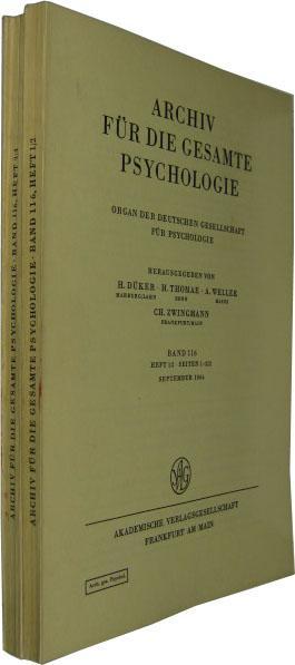 Band 116. 4 Hefte in 2 Bde.: Archiv für die