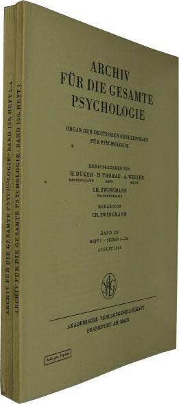 Band 120. 4 Hefte in 2 Bde.: Archiv für die