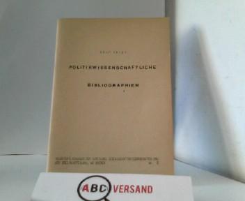 Politikwissenschaftliche Bibliographien. Ein Verzeichnis bibliographischer Hilfsmittel in: Voigt, Rolf: