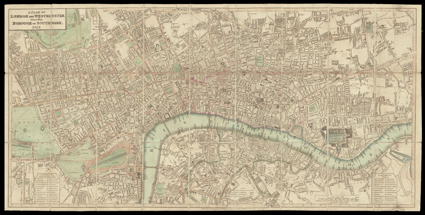 A Plan of London and Westminster with: WYLD, James