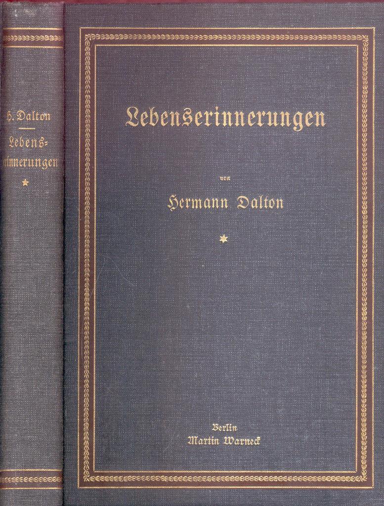 Lebenserinnerungen von Hermann Dalton. I. Aus der: Dalton, Hermann