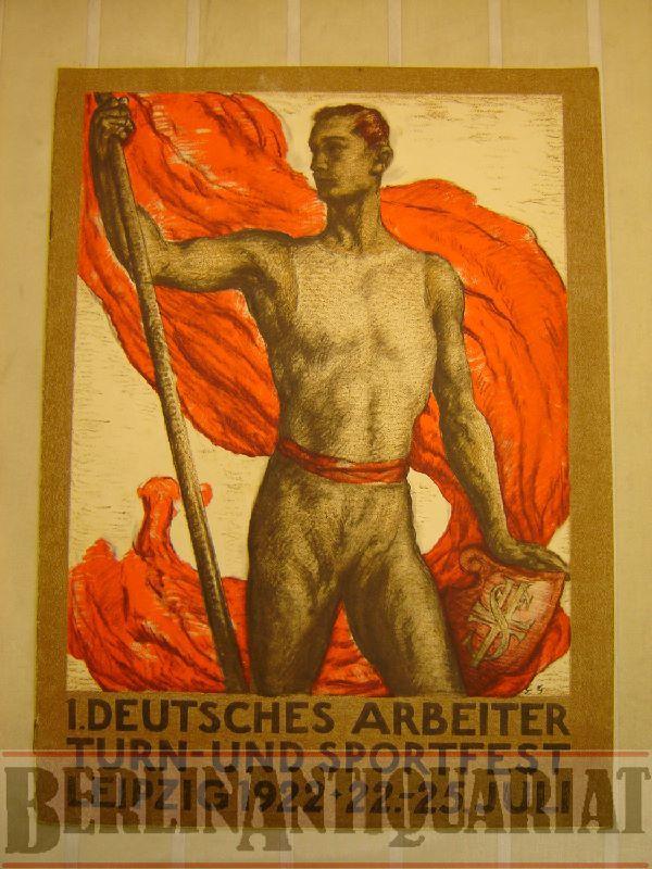 Festschrift. Zum 1. deutschen Arbeiter-Turn-und-Sportfest vom 16.: Zeitschrift.-