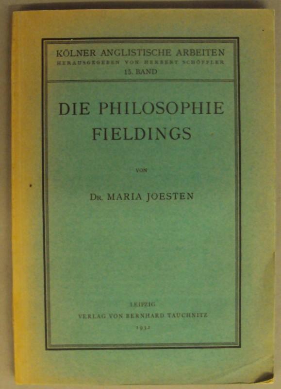 Die Philosophie Fieldings.: Joesten, Maria
