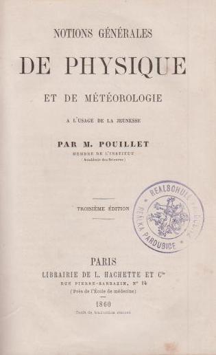 Notions générales de Physique et de Météorologie: Pouillet, M.: