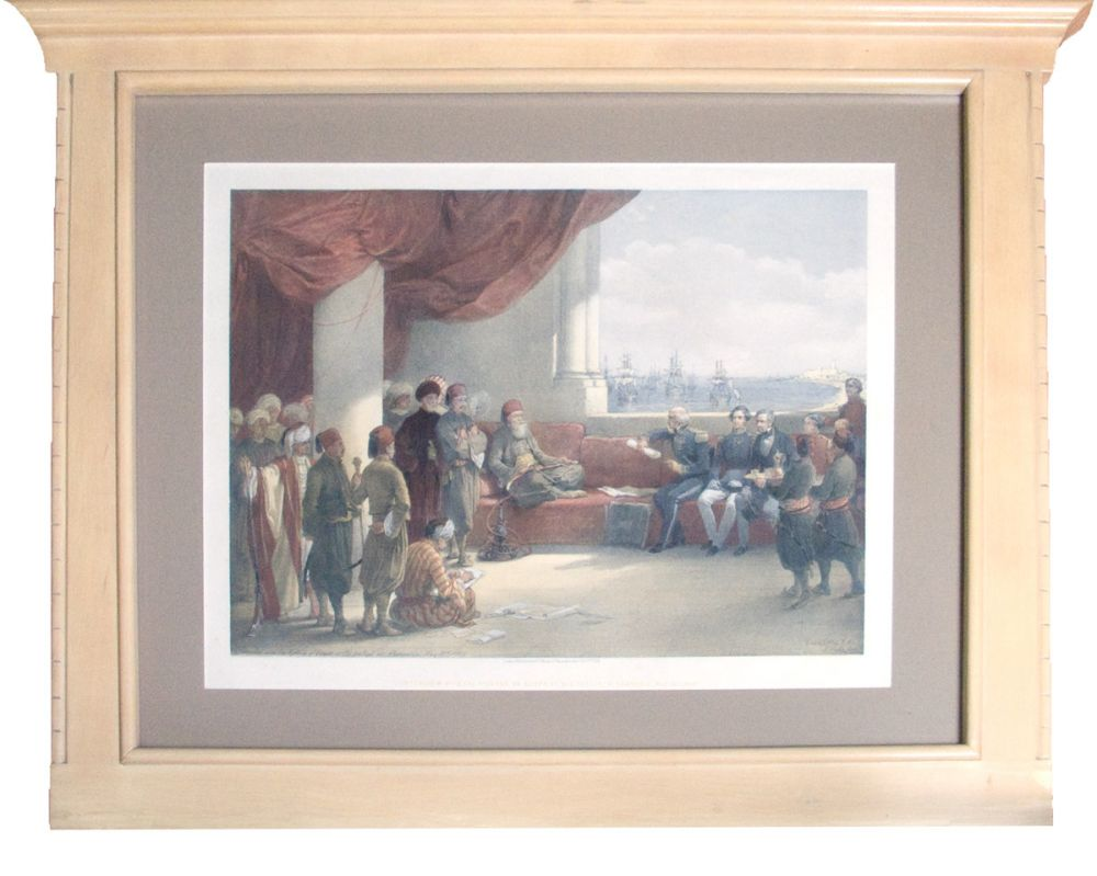 "Hand-Colored Lithograph: ""Interview with The Viceroy of: Roberts, David (1796-1864)"