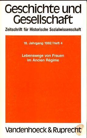 Geschichte und Gesellschaft. 18. Jahrgang / Heft: Wehler, Hans-Ulrich, Jürgen