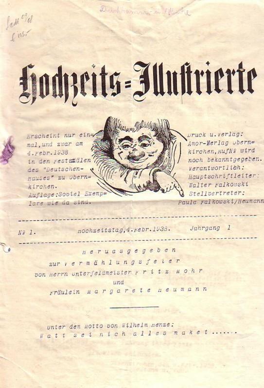 Hochzeitszeitung Hochzeits-Illustrierte. No 1. Jahrgang 1. Hrsg.: Hochzeits-Zeitung -