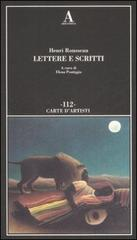 Lettere e scritti.: Rousseau,Henri.