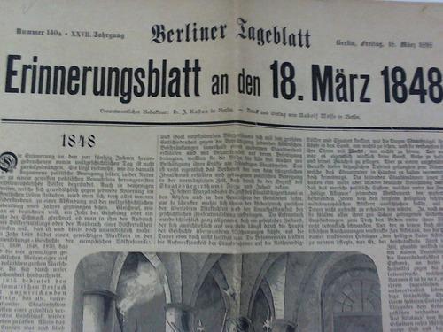 Erinnerungsblatt an den 18. März 1848: Berliner Tageblatt