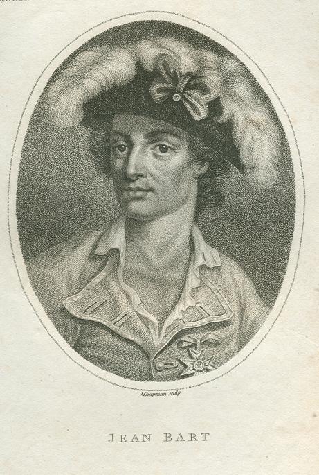 Porträt. Brustbild halblinks.Original - Kupferstich von J.: Bart (Barth), Jean