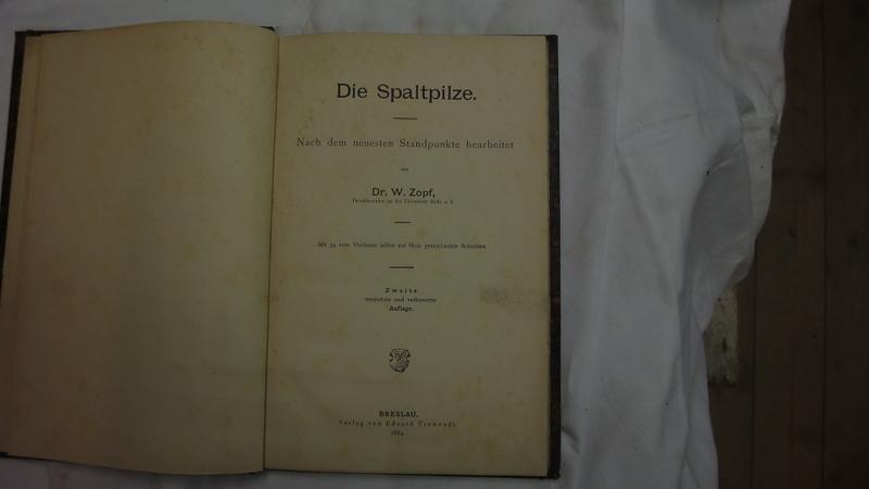Die Spaltpilze. Nach dem neuesten Standpunkte bearbeitet.: Zopf W.